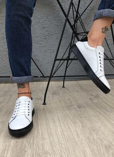 MARTINETTO Hakiki Deri  Sneakers Beyaz